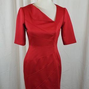 LONDON TIMES Red Satin Dress